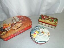 Biscuit  tins and toffee tin Huntley & Palmers x 3