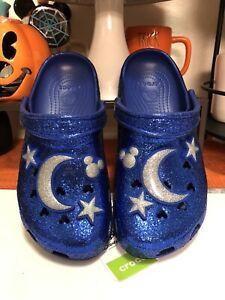 Disney Wishes Come True Blue Make A Wish Crocs Adult Clogs Size M8/W10