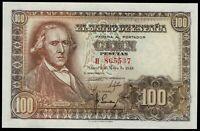 Billete de España 100 pesetas 1948  H 865537 Francisco Bayeu Madrid 2 de mayo