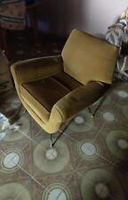 Pair of Italian Mid century lounge chairs by Gigi Radice for Minotti Italy 1950s