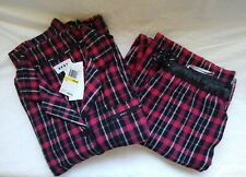 DKNY SOFT PLAID PJ SET, SIZE M