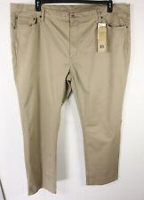 Levis 541 Jeans Stretch Tapered Athletic Fit 50 x 32 Khaki Beige W/ Spot