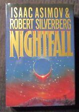 1990 NIGHTFALL by Asimov & Silverberg HC/DJ VF+/FVF 1st Foundation SIGNED