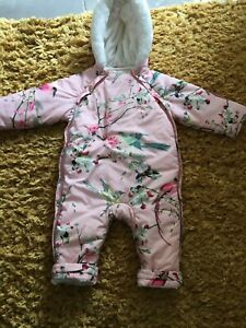 Ted Baker Baby Girls Pink Printed COAT SnowSuit Age 12-18 Months