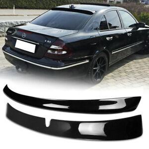 Fit For Mercedes Benz E CLASS W211 ROOF + TRUNK SPOILER 2005 PAINTED #040
