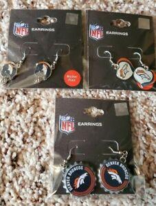 Denver Broncos-3 Pair Earrings