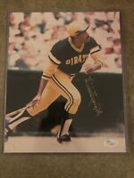 Willie Stargell Signed Pittsburgh Pirates 8x10 Color Glossy Photo JSA
