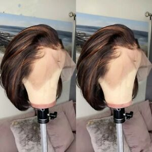 8A 150  Density 13x6 Lace Unprocessed Brazilian Ombre Highlight Human Hair Wig