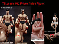 "TBLeague 1/12 Action Figure Head Body Model 6"" Seamless Phicen PH Toy Flexible"