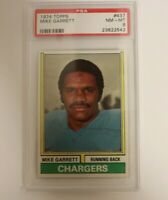 1974 Topps #437 Mike Garrett Chargers PSA 8