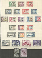 GAMBIA  GEOVI 1938-49 COMPLETE  COLLECTION    MOUNTED MINT  ON ALBUM PAGE