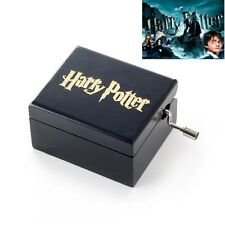 { HARRY POTTER } Artisanal Black Square Hand Crank Mirror Music Box