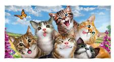 Cats Selfie Cotton Beach Towel