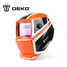 Mega Auto Solar Darkening  MIG MMA Electric Welding Mask Helmet Welding Orange