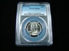 1942-D Washington Silver Quarter PCGS Graded MS64 Very Nice!!