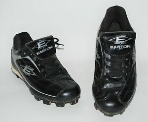 Easton Mens Baseball Cleats Size 8 Black Silver Trim