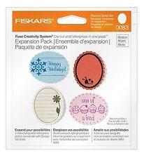 Fiskars 100910-1001 Scalloped Oval Design Plate Expansion Pack Medium 4-Pack
