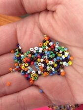 300pcs  Multi Colour Seed Hard Plastic Beads On Fishing Line.1-3mm Size