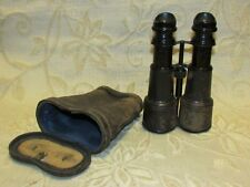 WWI Military Binoculars Army & Navy Paris + Leather Case