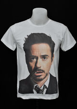 White crew t-shirt Robert Downey JR rock cotton CL tee size S