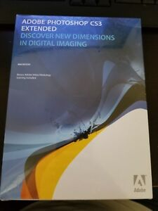 Adobe Photoshop CS3 Extended, Sealed Retail Box, Macintosh, PN 19400083, Full