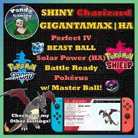 SHINY Gigantamax Charizard GMax HA ✨Master Ball✨6IV Pokemon Sword Pokemon Shield