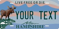 New Hampshire Moose License Plate Personalized Auto Car Custom VEHICLE OR MOPED