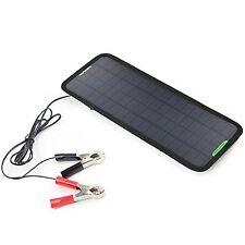 Solar Car Battery Charger Bundle w/ Cigarette Lighter Plug Clips Suction Cups