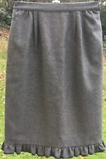 "Vintage 80s Valentino Grey Skirt 8/10 + Side Pockets W26 3/4"" Designer Italian"