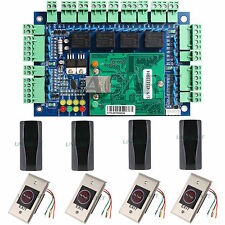 TCP/IP Network Access Control Board Panel w/ Reader Exit Button for 4 Door Use