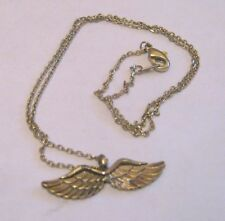wing pendant approx 38 cm long Lovely dainty gold tone metal chain necklace