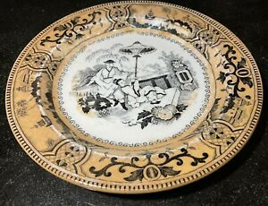 """Antique Petrus Regout Maastricht Holland Pajong Small Plate 6.5"""""""