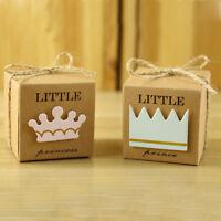 10x Couronne faveur boîte de mariage anniversaire Baby Shower Party Candy Box I