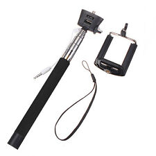 Selfie Stick Monopod Shutter Button Cable for iPhone 4 5 6 6+ S4 S5 S6 - Black