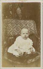 Baby Sitting On Wicker Chair  Ri.529