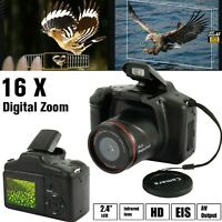 Digital SLR Camera 3.0 Inch TFT LCD Screen 16X Zoom HD 16MP 1080P Anti-Shake US