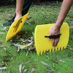 Garden Yard Leaves Leaf Scoops Hand Rake Large Claws Grabber Lawn Cleanup Tool