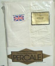 Percale Single frilled quilt Set Cream Vintage British Made still packed