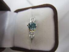EXQUISITE ESTATE PLATINUM 18 KT 1.50 CTW FANCY BLUE DIAMOND RING 8.3 GR. !!!!!!!