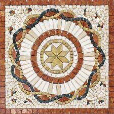 Rosoni rosone mosaico in marmo su rete per interni esterni 66x66 ROSA ROSSO
