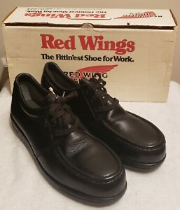 Red Wing Steel Toe Oxford Lace Up Black Leather Men's Size 12 B 6604 Made in USA