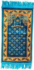 Tapis de Prière Saggada pour Enfants Turquoise/Bleu Seccade Sejjada Namazlik