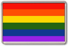 FRIDGE MAGNET - GAY PRIDE - Rainbow Flag, LGBT
