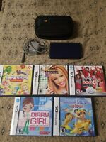 Nintendo DS Lite Blue Console - 6 Game Bundle -  with Charger Tested  Case