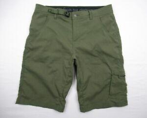 "Prana $69 Mens 34 Stretch Zion 12"" Shorts Hiking Green"