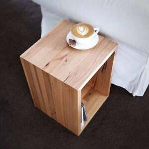 Acacia Wooden Open Cube Side Table Handmade For Home And Office use