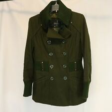 Buffalo Outer Women's XS Coat Double Breasted Wool Ribbed