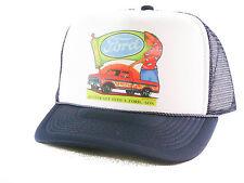 Vintage Ford Trucks Trucker Hat mesh hat snapback hat Navy blue