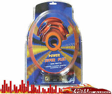 0Gampkitsflex Qpower 0 Gauge/4000watt Amplifier Installation Super Flex Kit