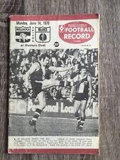 1976 VFL AFL football record Carlton Blues V Footscray Bulldogs June 14